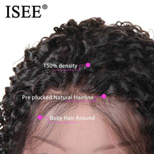 Load image into Gallery viewer, ISEE HAIR Curly Bob Lace Front Wigs For Women Kinky Curly Lace Front Wig 360 Lace Frontal Wig Brazilian Curly Human Hair Wigs | broadway rd