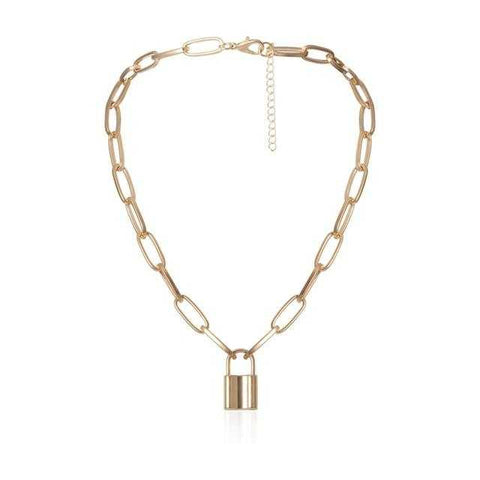 Ingemark Multi Layer Lover Lock Pendant Choker Necklace | broadway rd