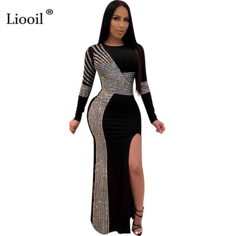 Sexy Slit Bodycon Long Maxi Dress | broadway rd