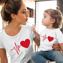 Load image into Gallery viewer, Love Heartbeat family matching clothes baby girl clothes Outfits Mother And Daughter | broadway rd