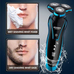 New Electric Shaver Rechargeable Electric Beard Trimmer Shaving Machine for Men Beard Razor Wet-Dry Dual Use Washable | broadway rd