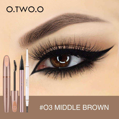 3pcs Eyes Makeup Set Ultra Fine 1.5mm Eyebrow Lengthening Mascara | broadway rd