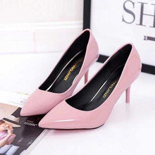 Load image into Gallery viewer, Plus Size OL Office Lady Shoes Faux Suede High Heels