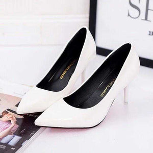 Plus Size OL Office Lady Shoes Faux Suede High Heels