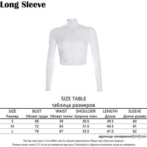 Turtleneck Middle Zipper Knitted Ribbed Elastic White T-Shirt | broadway rd