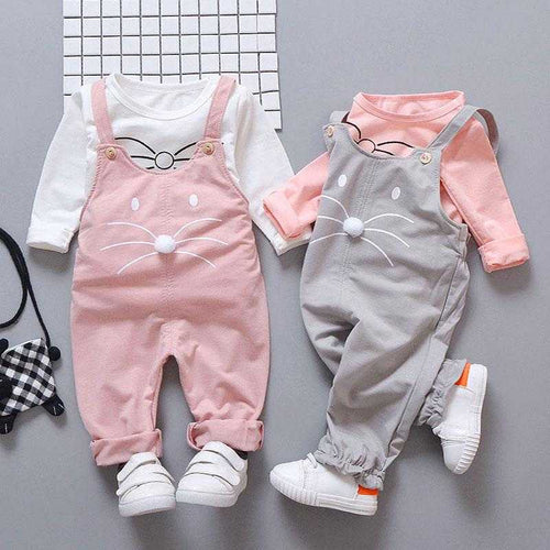 Spring newborn baby girls clothes sets fashion suit T-shirt + pants suit baby girls outside wear  sports suit clothing sets | broadway rd