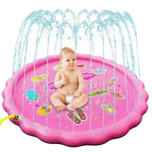 Sprinkler For Kids, Splash Pad Outdoor Sprinkler Water Toys Thickened Odorless Wading Learning Water Splash Mat For Kids | broadway rd