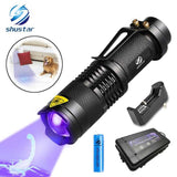 UV Flashlight Ultra Violet Light With Zoom Function Mini UV Black Light Pet Urine Stains Detector Scorpion Use AA/14500 battery | broadway rd