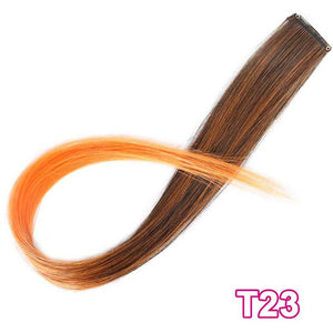 Vigorous Long Straight Clip In One Piece Hair Extensions 20 Inch Synthetic