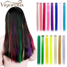 Load image into Gallery viewer, Vigorous Long Straight Clip In One Piece Hair Extensions 20 Inch Synthetic