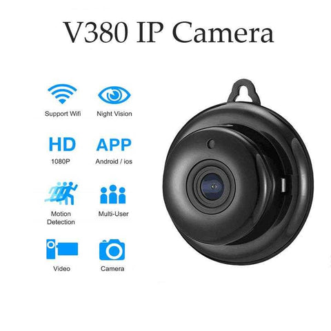 Wifi Camera Mini IP HD1080P Home Security Wireless Small CCTV Infrared Night Vision Motion Detection SD Card Slot Audio V380 APP | broadway rd