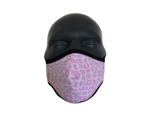 Animal Leopard Baby Pink face mask