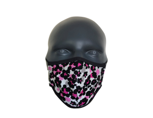 Animal Leopard Black & Pink face mask