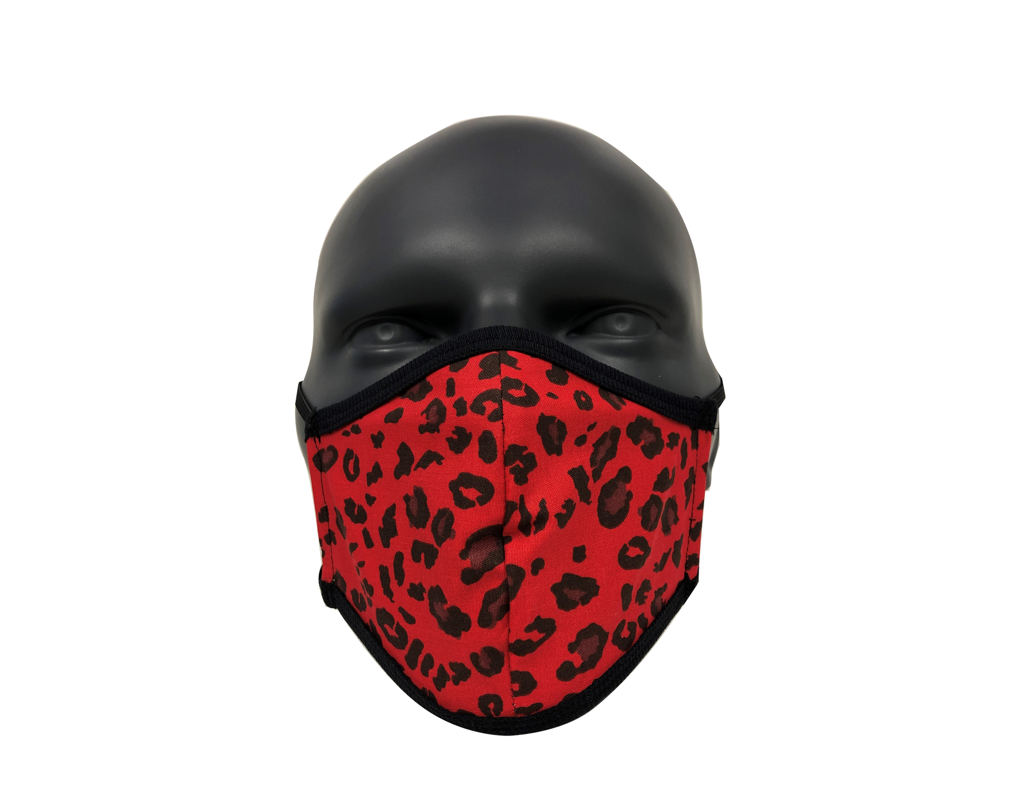 Animal Leopard Red face mask