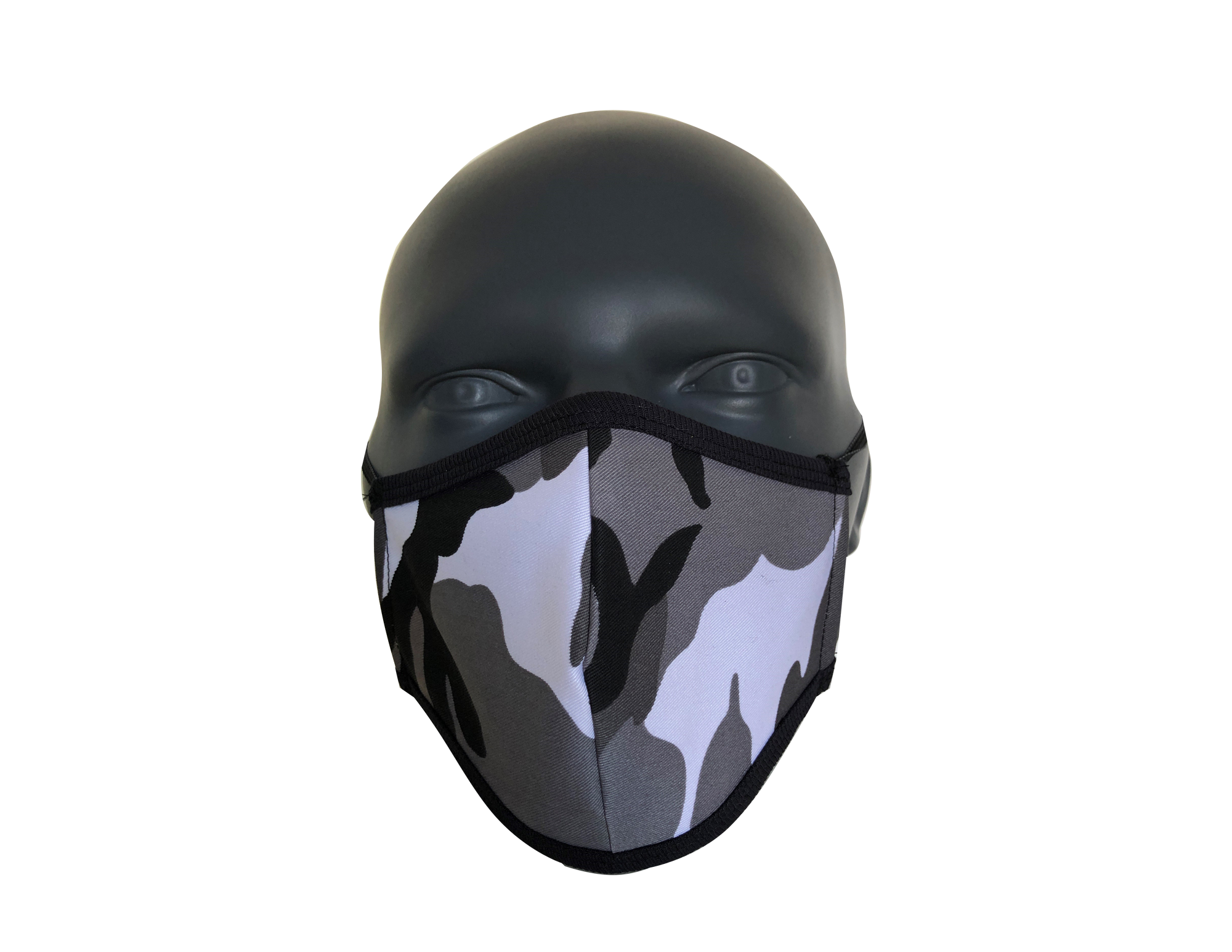 Camo10 black, white & Grey face mask