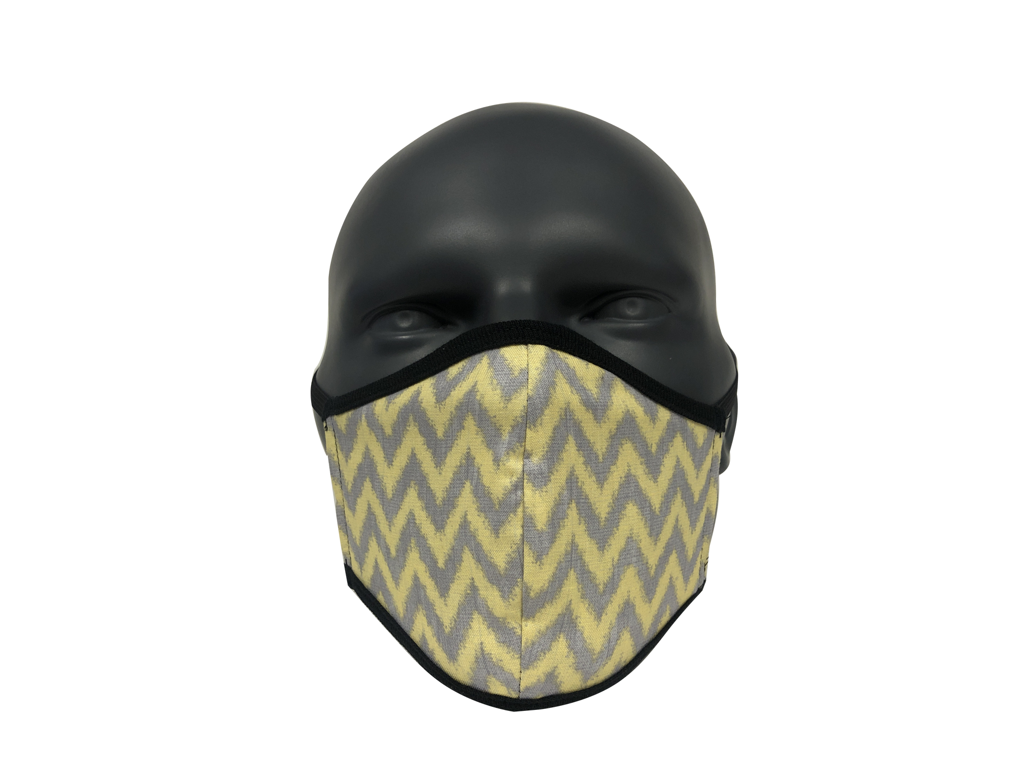 Chevron Grey & Yellow face mask