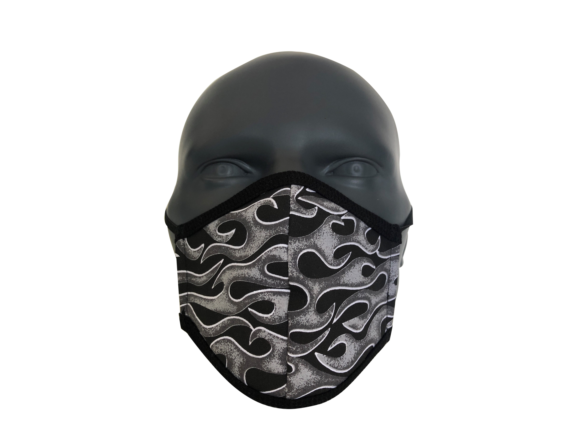 Flames Grey face mask