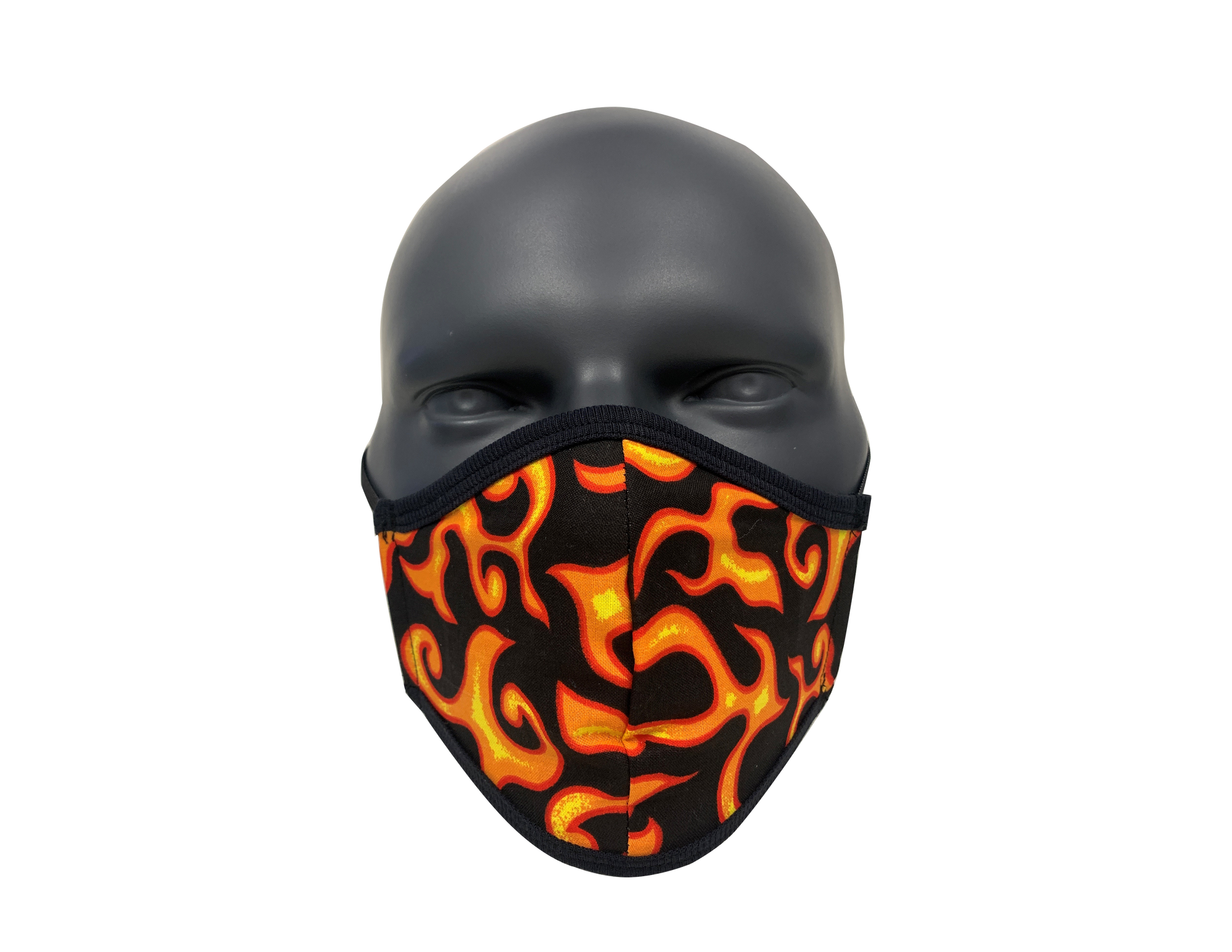 Flames Orange face mask (kids size)