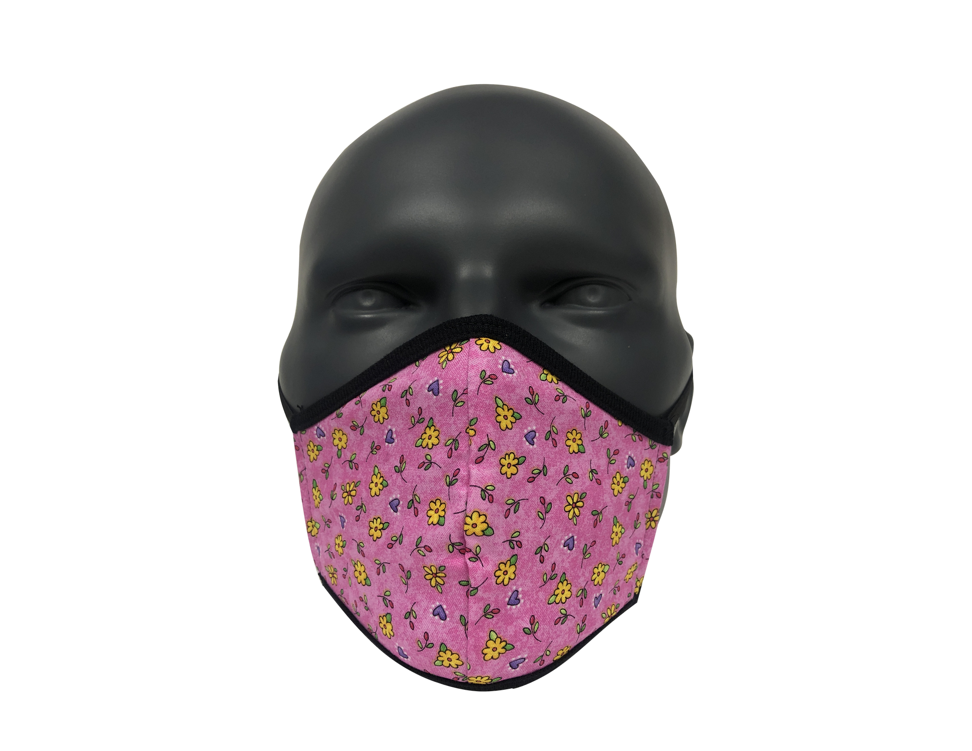 Flower Purple Yellow face mask