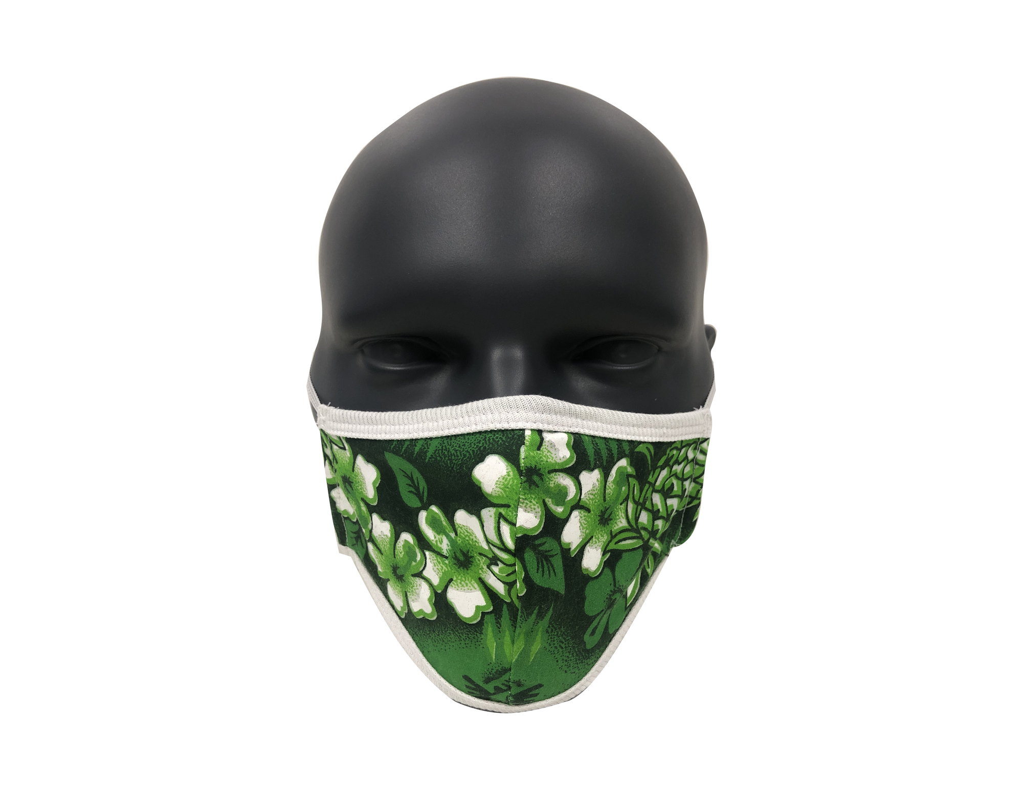 Hawaiian Flower Green face mask