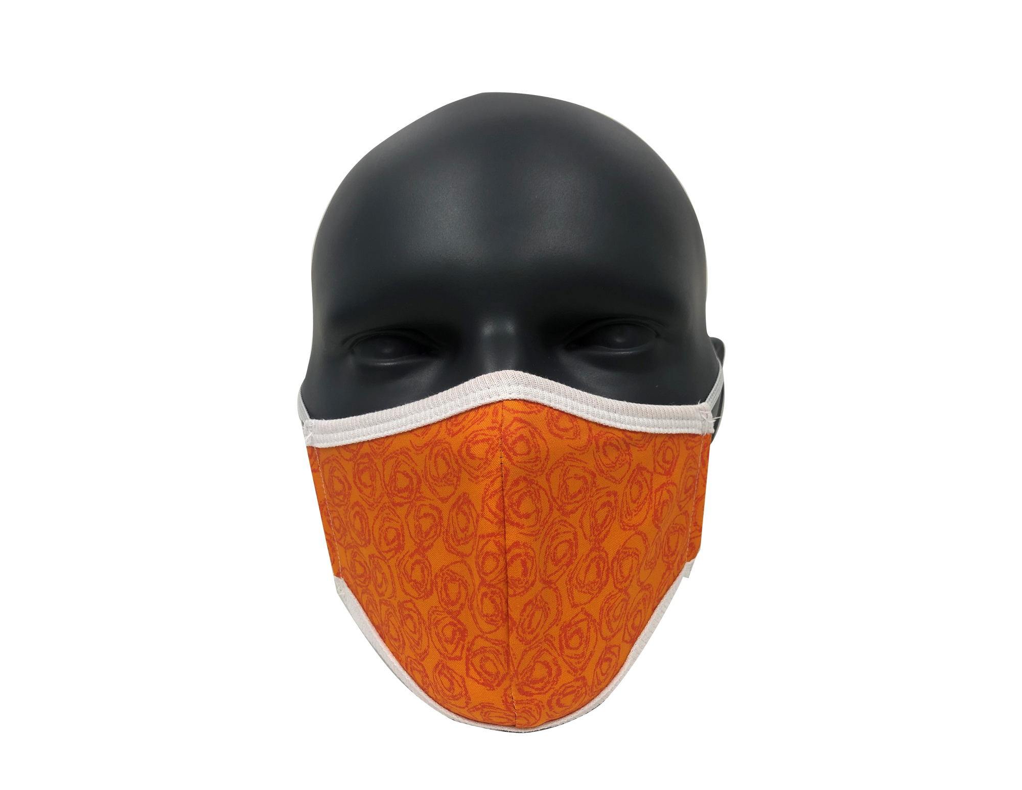 circles Orange harvest face mask