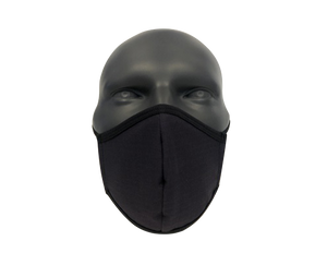 Solid black face mask