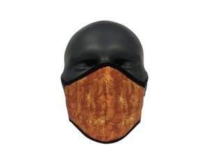 Tie-Dye Orange face mask
