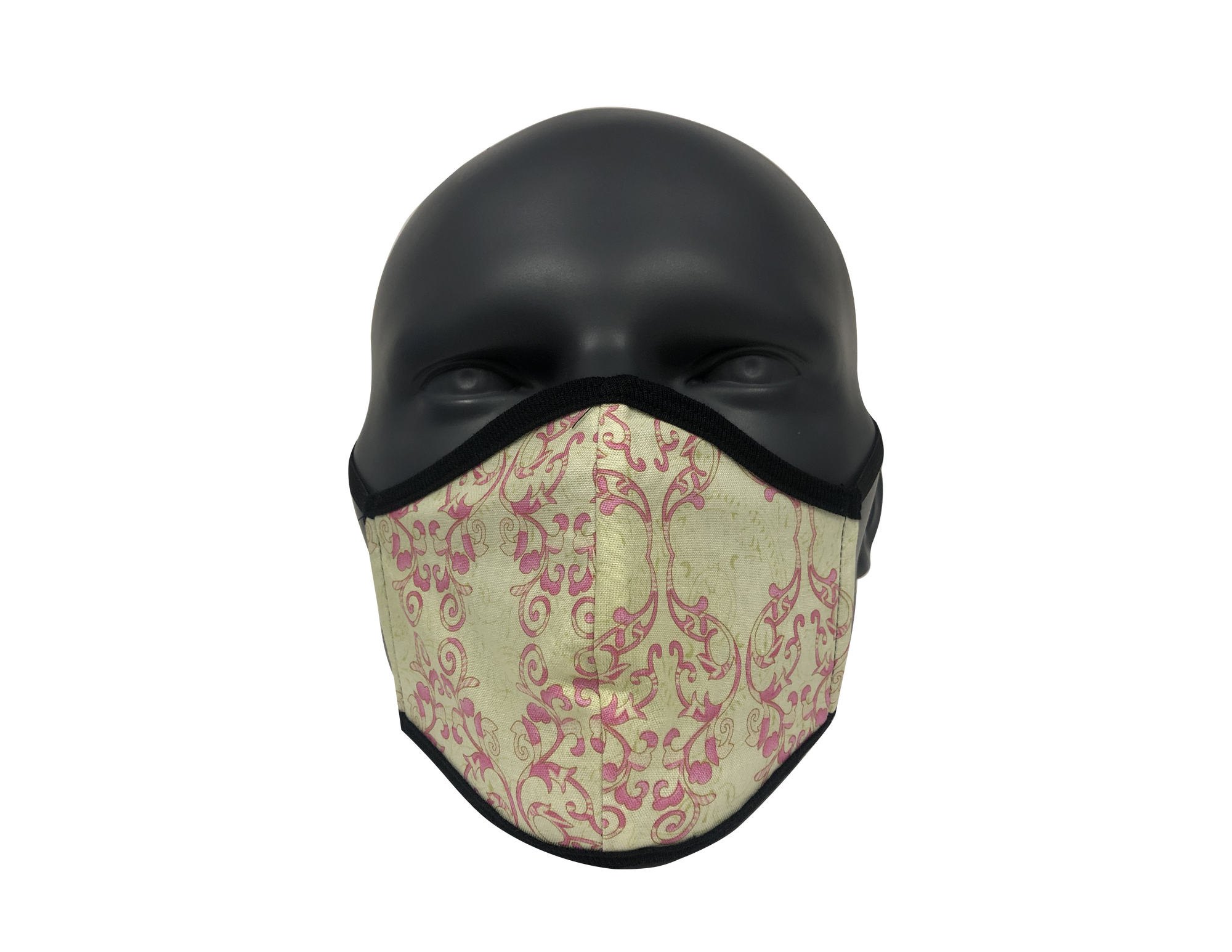 Pink Stamp Scroll face mask