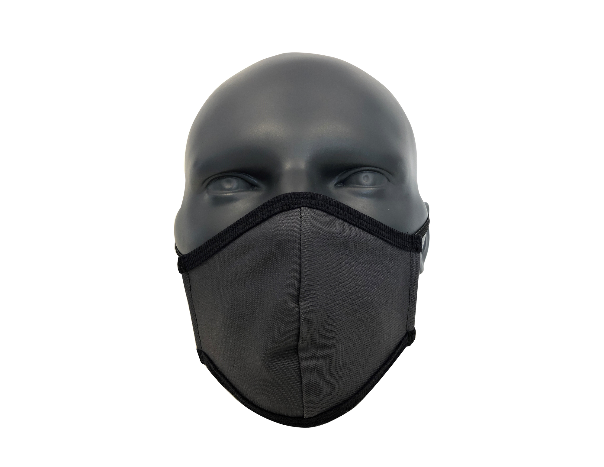 solid Charcoal grey face mask