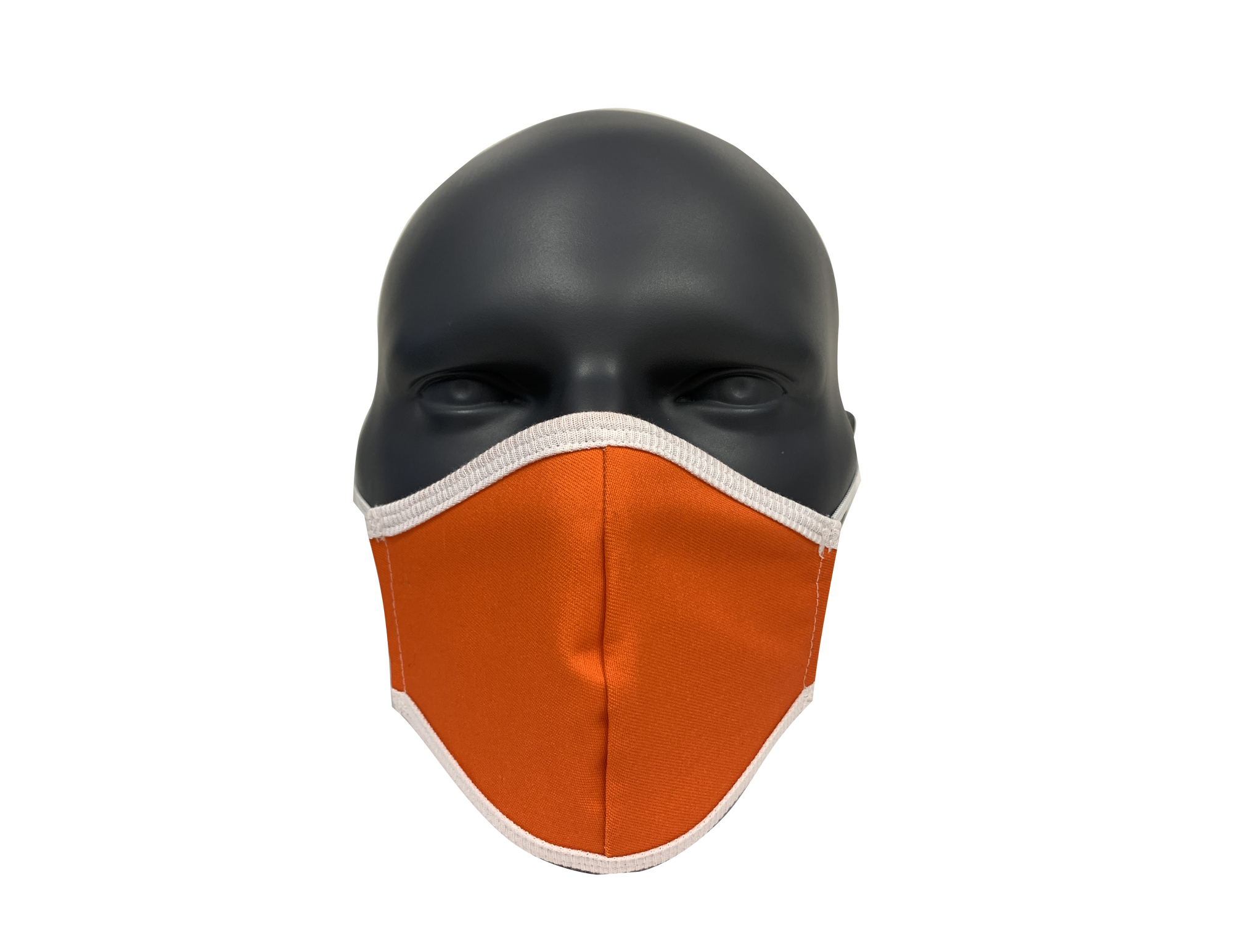Solid bright orange face mask