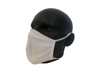 Solid white face mask