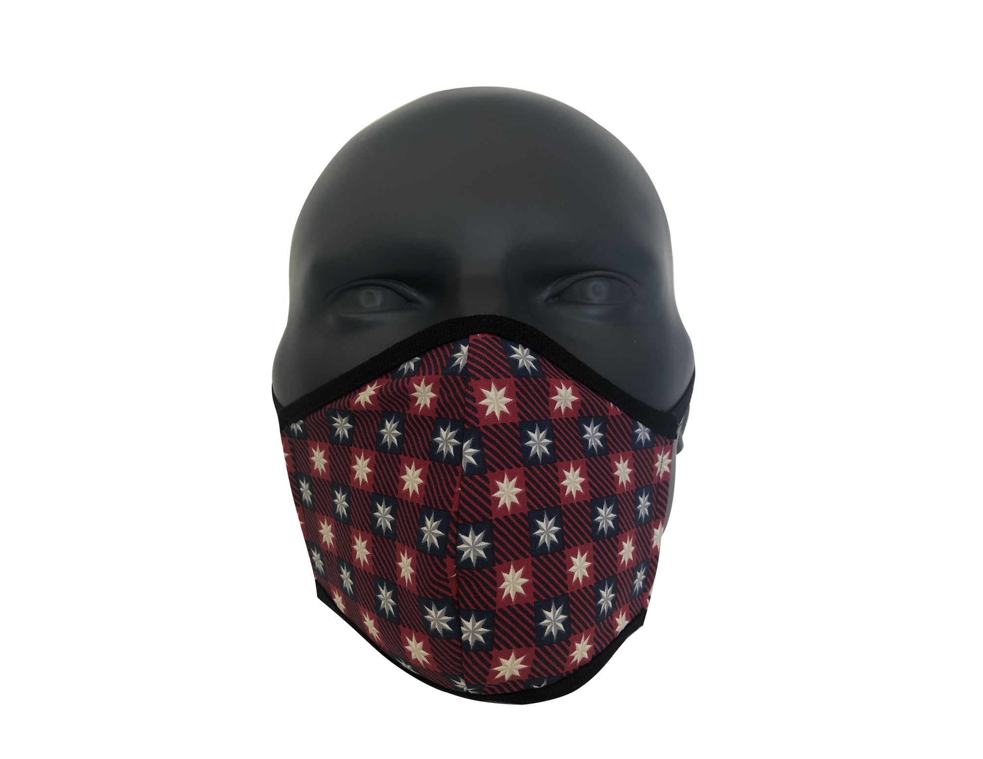 Stars checkerboard face mask