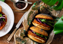 Load image into Gallery viewer, Tiba Tempeh BBQ Burgers 200g - Tiba Tempeh Natural Plant-based Protein