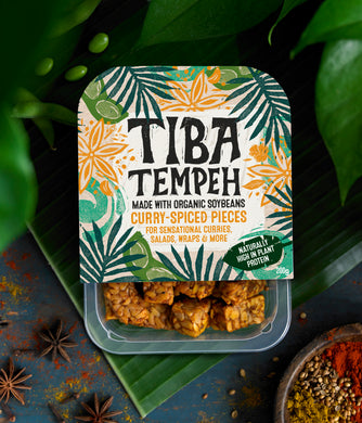 Tiba Tempeh Curry-Spiced Pieces 200g - Tiba Tempeh Natural Plant-based Protein