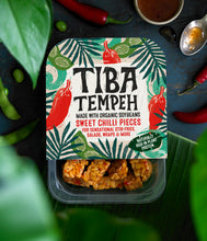 Load image into Gallery viewer, Tiba Tempeh Sweet Chilli Pieces 200g - Tiba Tempeh Natural Plant-based Protein
