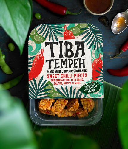 Tiba Tempeh Sweet Chilli Pieces 200g - Tiba Tempeh Natural Plant-based Protein