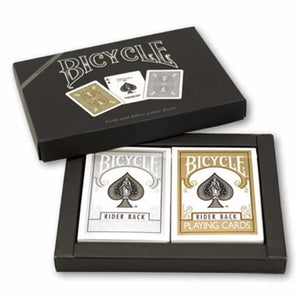 Bicycle Gold and Silver Back Set