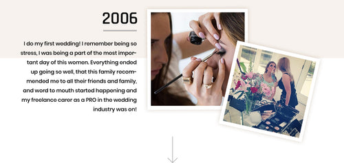do my first wedding! I remember being so stress, I was being a part of the most important day of this women. Everything ended up going so well, that this family recommended me to all their friends and family, and word to mouth started happening and my freelance carer as a PRO in the wedding industry was on!