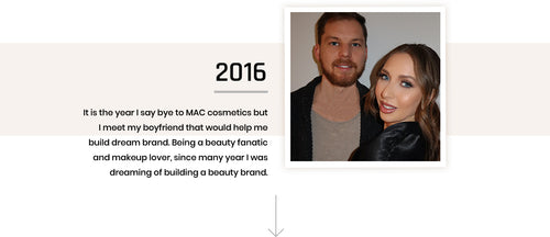 It is the year I say bye to MAC cosmetics but I meet my boyfriend that would help me build dream brand. Being a beauty fanatic and makeup lover, since many year I was dreaming of building a beauty brand.