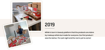 MFMA is born! A beauty platform that the products are Adore by makeup artists but made for everyone. Our first product l was the lashes  Pro Lash Light and the rest is yet to come!