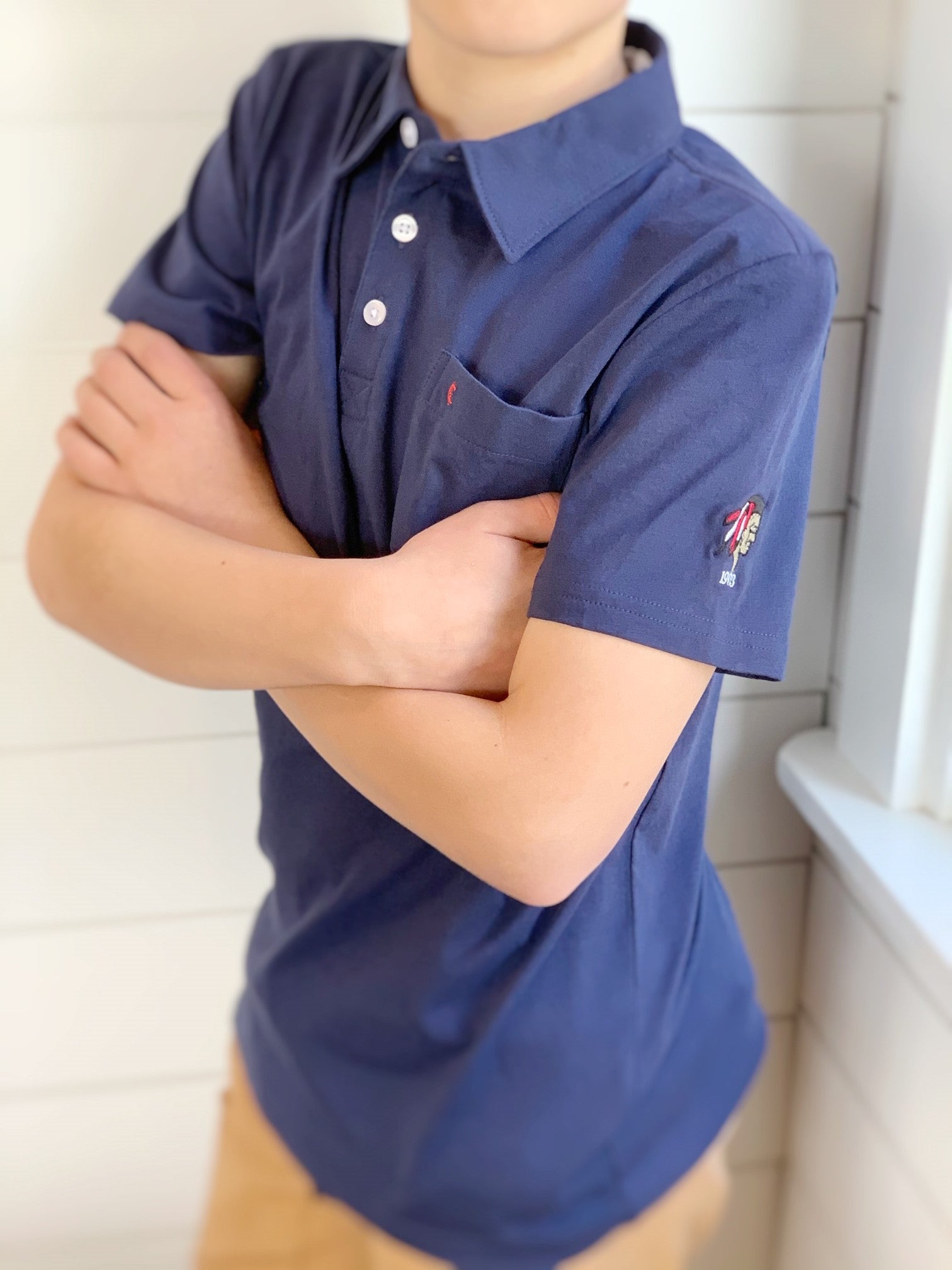 Junior Organic Cotton Golf Polo by Criquet