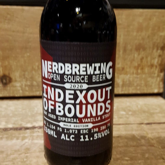 Nerdbrewing - Indexout of Bounds - Stout - 33cl 11,5°