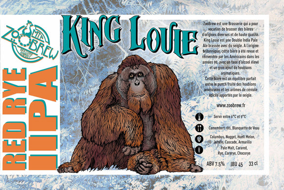 Zoobrew - King Louie - Double Rye IPA 33cl 7.6°