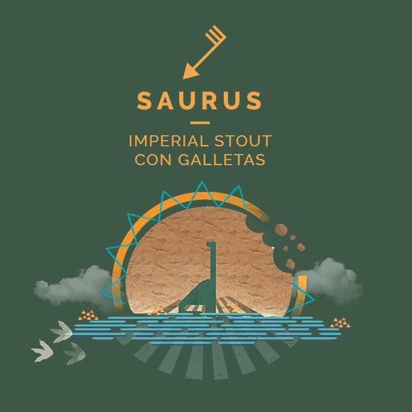 Cierzo - Saurus - Imperial stout - CAN 44CL - 8°