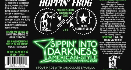 Hoppin Frog - Sippin' into Darkness - Imp Stout - 66CL 12°