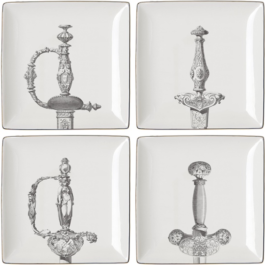 Hilts Set of 4 Gift Plates