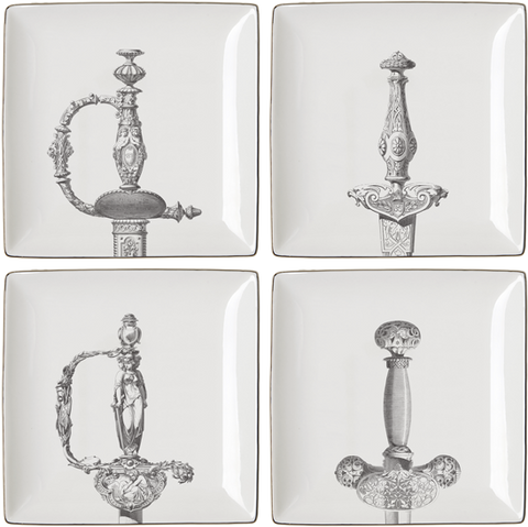 """HILTS"" Set of 4 APPETIZER PLATES"