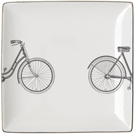 """HERS"" BICYCLE Set of 4 SALAD PLATES"
