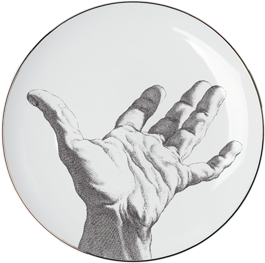 """HAND"" Set of 4 SALAD PLATES"