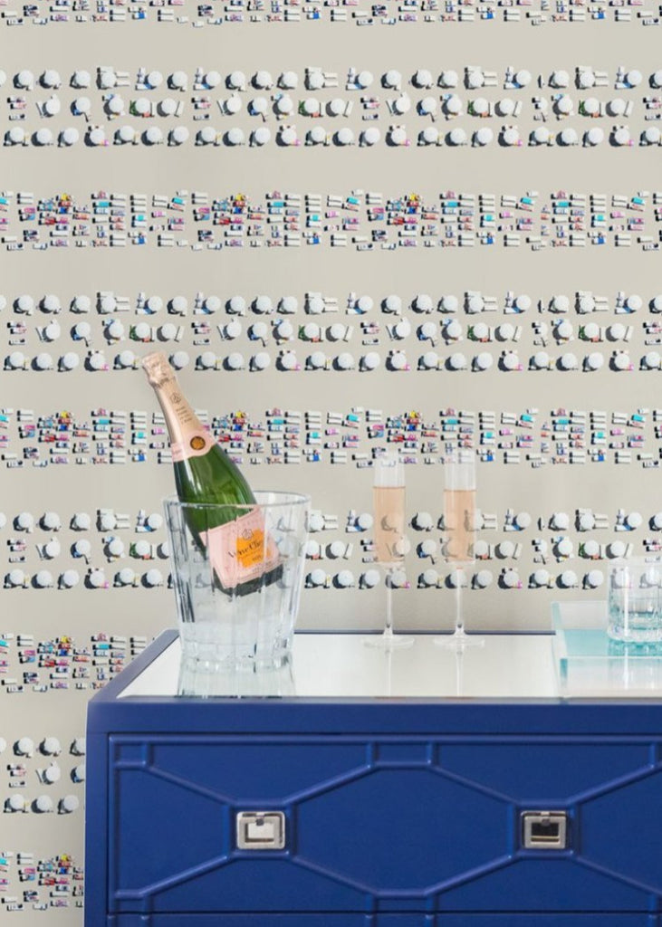 LUCKY Riviera Stripe Pre-Pasted Wallpaper
